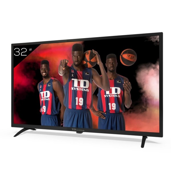 Td systems k32dlk12h televisor 32'' lcd direct led hd ready hdmi usb dolby digital plus